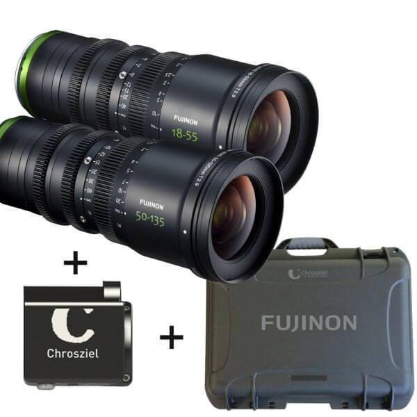 Fujinon MK18-55 + MK50-135 + Chrosziel CDM-MK-Z + Case