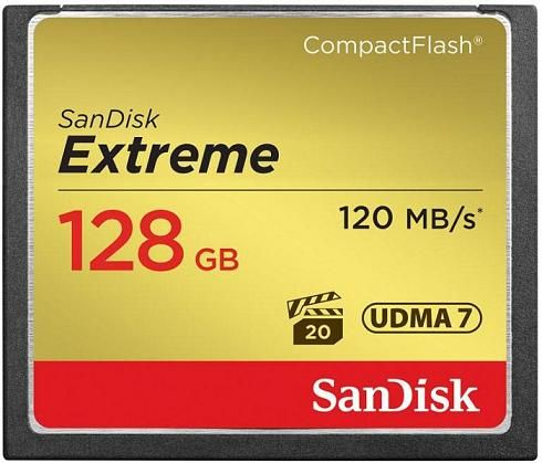 SanDisk Compact Flash Extreme 128 GB 120 MB/s